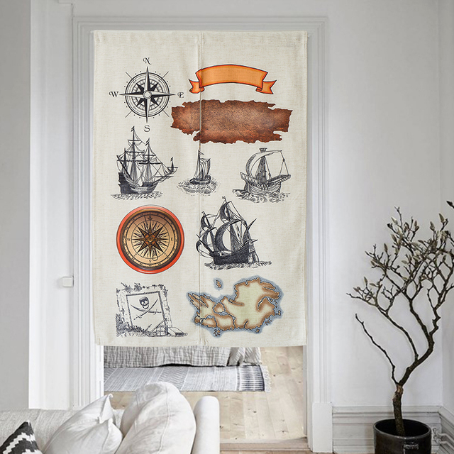 Nice Curtains The Age Of Cotton Door Curtain Cartoon Feng Shui Kitchen Bedroom Decoration
