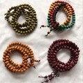 108pcs Prayer Beads 4 Style Sandalwood Tibetan Buddhist Mala Buddha Bracelet Rosary Wooden Bangle Jewelry