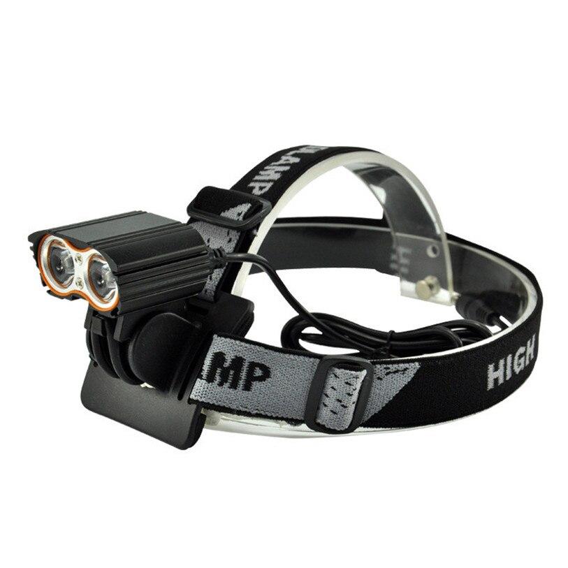 Новый Правда 2000lm xm-l T6 LED велосипед Велосипедный Спорт Факел фар + 4400 мАч Батарея пакет Велоспорт Аксессуары для велосипеда Одежда высшего ка…
