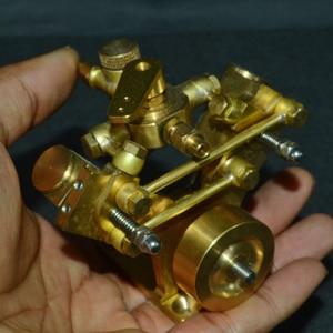 Image 3 - 8.5 × 8.2 × 7.4 センチメートル v 字型ミニ純銅蒸気エンジンモデルなしボイラークリエイティブギフトセットキッズ大人のための高品質