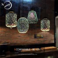 Moderne 3D bunte romantische Sternen himmel hängen Glas schatten Anhänger Lampe Lichter Leuchte E27 für schlafzimmer Restaurant wohnzimmer