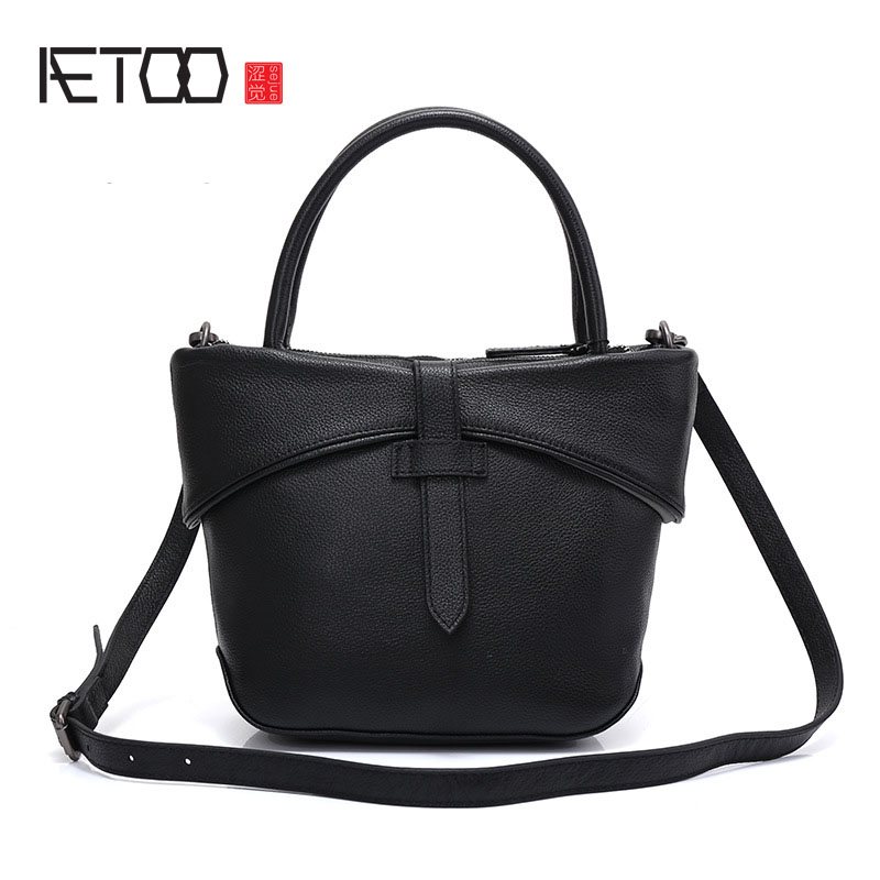 купить AETOO LLeather handbags 2017 new handbags Europe and the United States fashion first layer of leather ladies bag shoulder Messen недорого
