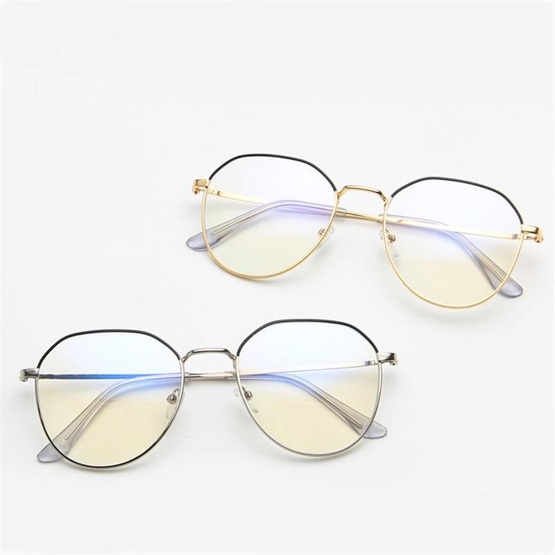 Anti Blue light Goggles led Reading Glasses Radiation-resistant Glasses Computer Gaming eyeGlasses Irregular polygon eyeglass(China)