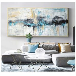 Image 3 - Abstrakte kunst malerei moderne wand kunst leinwand bilder große wand gemälde handgemachte ölgemälde für wohnzimmer wand dekor kunst