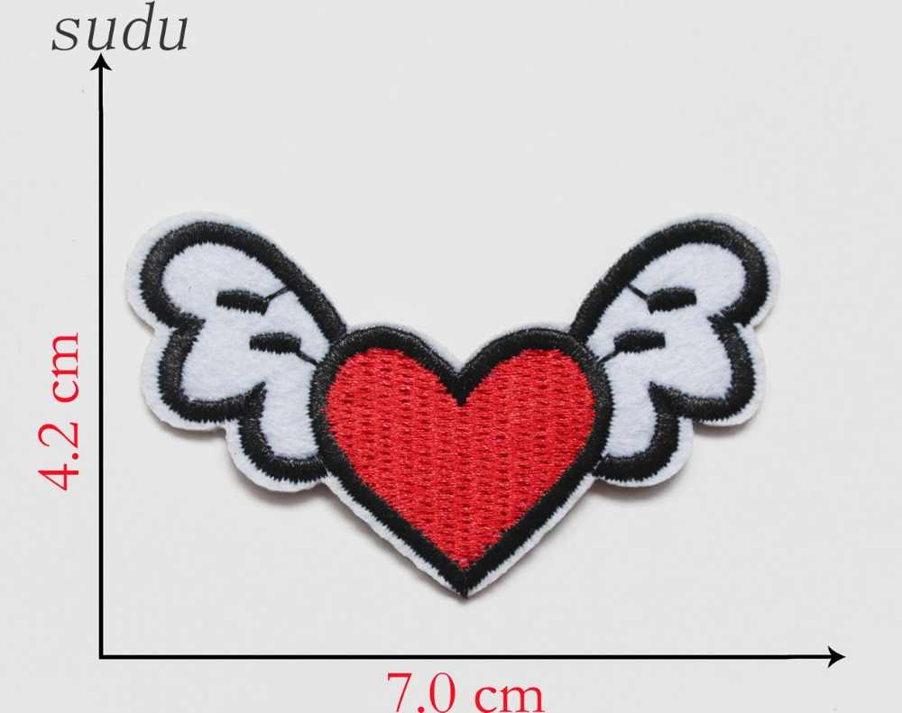 1Pcs Cute Skull Fish Cola Bee Crown Burger Embroidered Iron On Patches For Clothing Fabric Sewing Stickers Badges Applique jeans