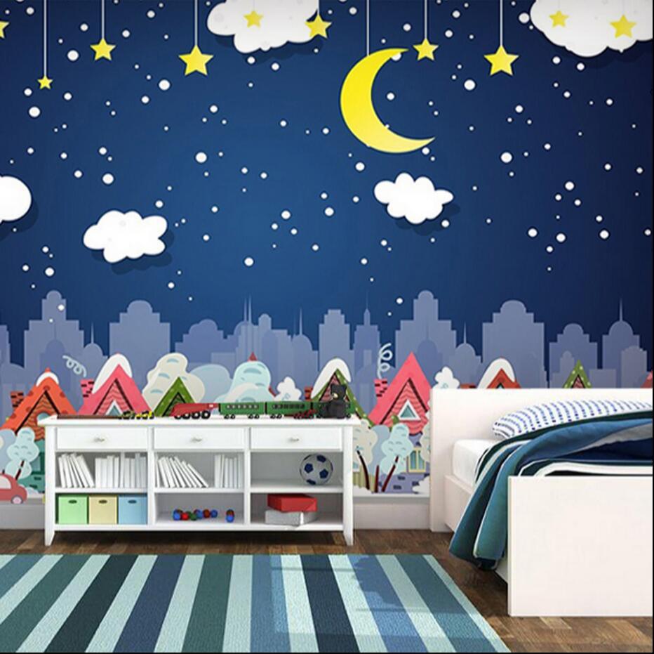 Online Get Cheap Moon And Star Wallpaper Aliexpresscom Alibaba