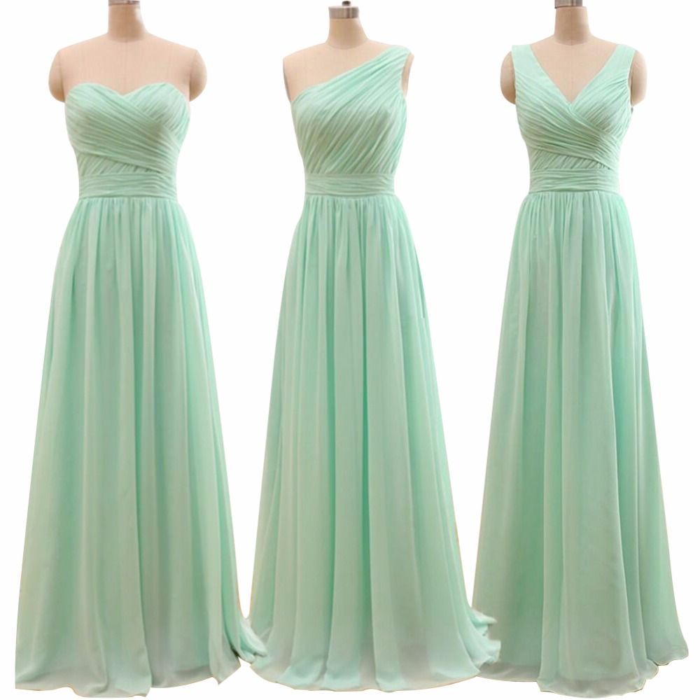 Designer gowns elegant cheap long mint green long evening for Long elegant dresses for weddings