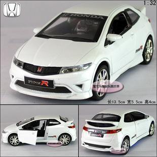 1:32 HONDA CIVIC Alloy Diecast Car Model Toy Collecion White Sound&Light B1953