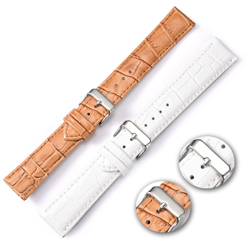 Watchbands Leather Watch Band 20mm 24mm Strap Watches Bracelet Accessories White Brown Men Women Watchband For Brand New Design