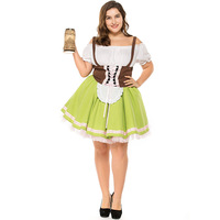 Oktoberfest Pullover Plus Size Export German Beer Maid Bavaria Traditional Costume Cosplay Carnival Costume Halloween Game Suit