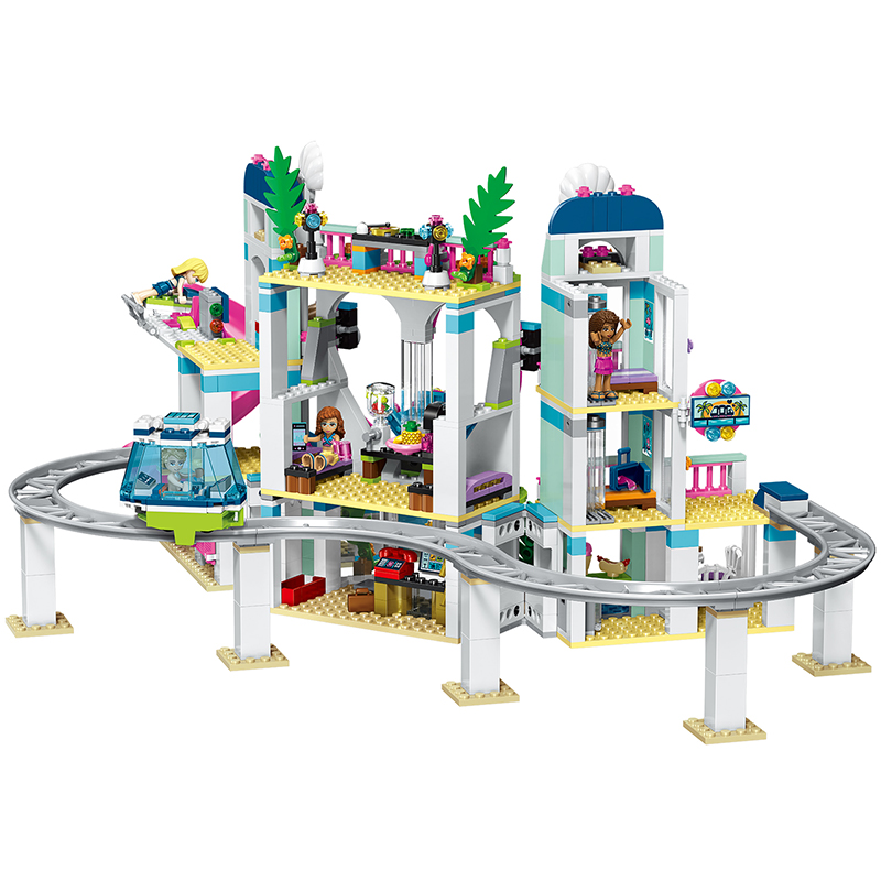 LELE-37086-The-Heartlake-City-Resort-Mode-Compatible-With-Legoingly-Friends-41347-Lepin-01068-Block-Brick