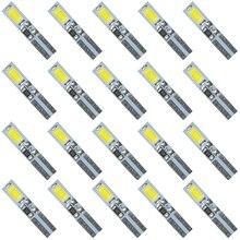 20 шт белый 6000K 58 70 73 74 T5 приборной панели датчик 2 5630/5730 SMD СВЕТОДИОДНЫЙ Wedge Bulb светильник