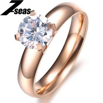 Princess Cut Four Claw Zircon Wedding Ring Austrian Crystals Full Sizes Wholesale Price n354