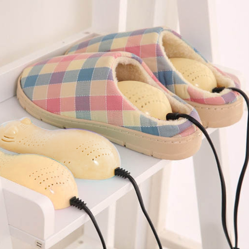 EYKOSI Cute Bear Electric Shoe Dryer Sterilization Deodorant Dehumidify Heating Insoles shanghai kuaiqin kq 5 multifunctional shoes dryer w deodorization sterilization drying warmth