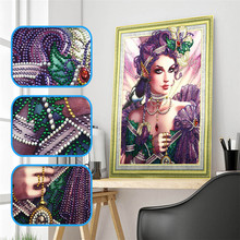 5d DIY diamond embroidery special shape beauty rhinestone crystal painting home decoration 40x50cm