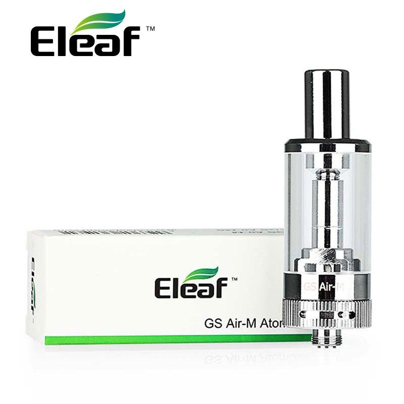 100% Original Eleaf GS Air-M Atomizer Vape 4ml GS Air Mega Pyrex Clearomizer Dual Coil Airflow Adjustable E-cig Tank 510 Thread