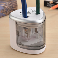2020 New Two-hole Electric Automatic pencil sharpener Switch Pencil Sharpener Home Office School Supplies stationery art