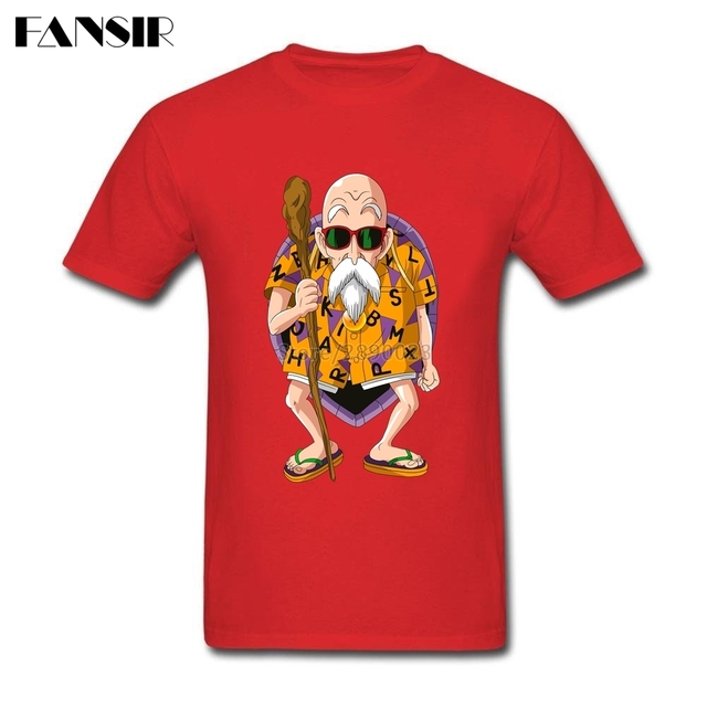 Men T Shirt Funny Short Sleeve Cotton Custom T-shirt Men Man's Master Roshi Anime Dragon Ball Group Brand Clothing