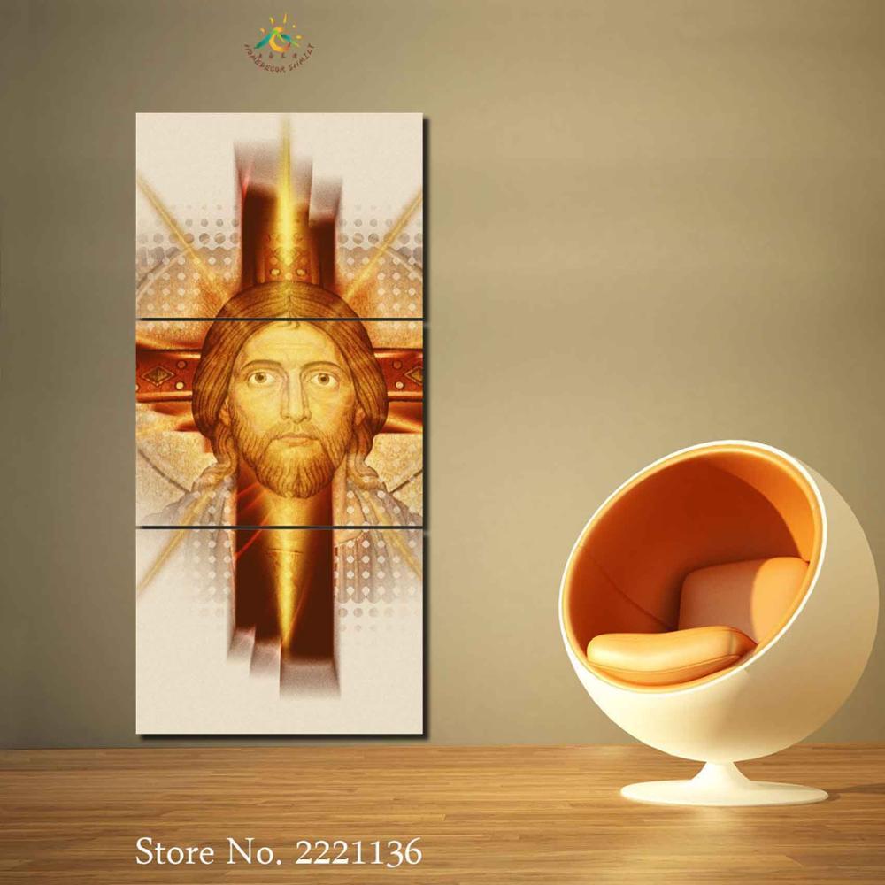 3 4 5 Pieces Jesus Christ Pictures Modern Home Decor Canvas Pictures ...