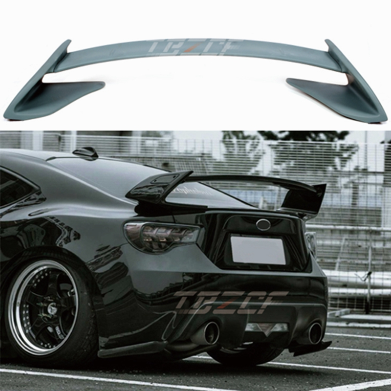 Car shape unpainted and color FRP Style GT 86 BRZ rear trunk spoiler for Subaru BRZ for Toyota 86 GT86