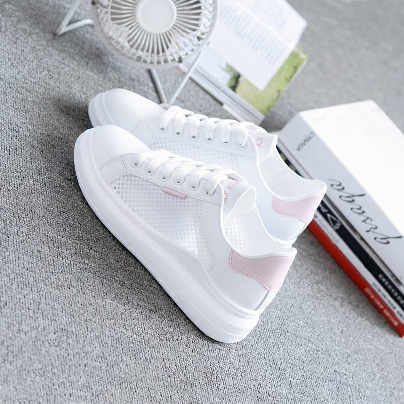 Women Sneakers 2019 Fashion Casual Shoes Woman Comfortable Breathable White Flats Female Platform Sneakers Women Shoes