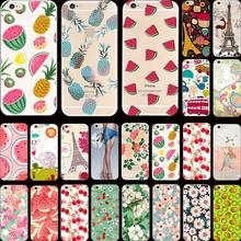 Hot!! Summer Cool Series Pattern Sweet Watermelon Silicon Phone Cases For Apple iPhone 5 iPhone 5S Case For iPhone5S Cover Shell