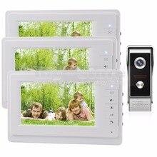 DIYSECUR 7 pulgadas TFT Pantalla a Color LCD de Video de La Puerta Teléfono Video Intercom Timbre 700 700tvline HD IR Cámara de Visión Nocturna 1V3