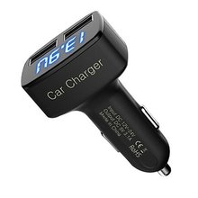 New 4-in-1 Dual USB Car Charger Digital LED Display DC 5V 3.1A Universal Adapter With Voltage Temperature Current Meter Tester