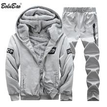 9c3d2fcbad38 BOLUBAO Sportswear Herren Gesetzt Winter Lässige Männer Hoodies Sets Marke  Männer der 2 stücke Warme Dicke Sweatshirt + Hosen an.