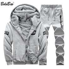 6d5354d287f687 BOLUBAO Mens Abbigliamento Sportivo Set Inverno Casual Tuta Da Uomo Felpe  Set 2 pz Caldo di Spessore Felpa + Pantaloni degli uom.