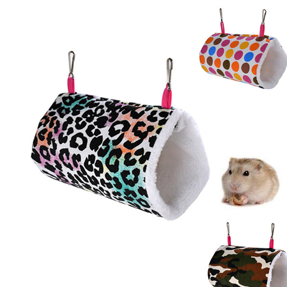 Hamster House Pet Hammock Bird Hamster Hanging Cage Hedgehog Soft Warm Tunnel Cavia Guinea Pig Bed Squirrel Rat Swing Nest Cages(China)