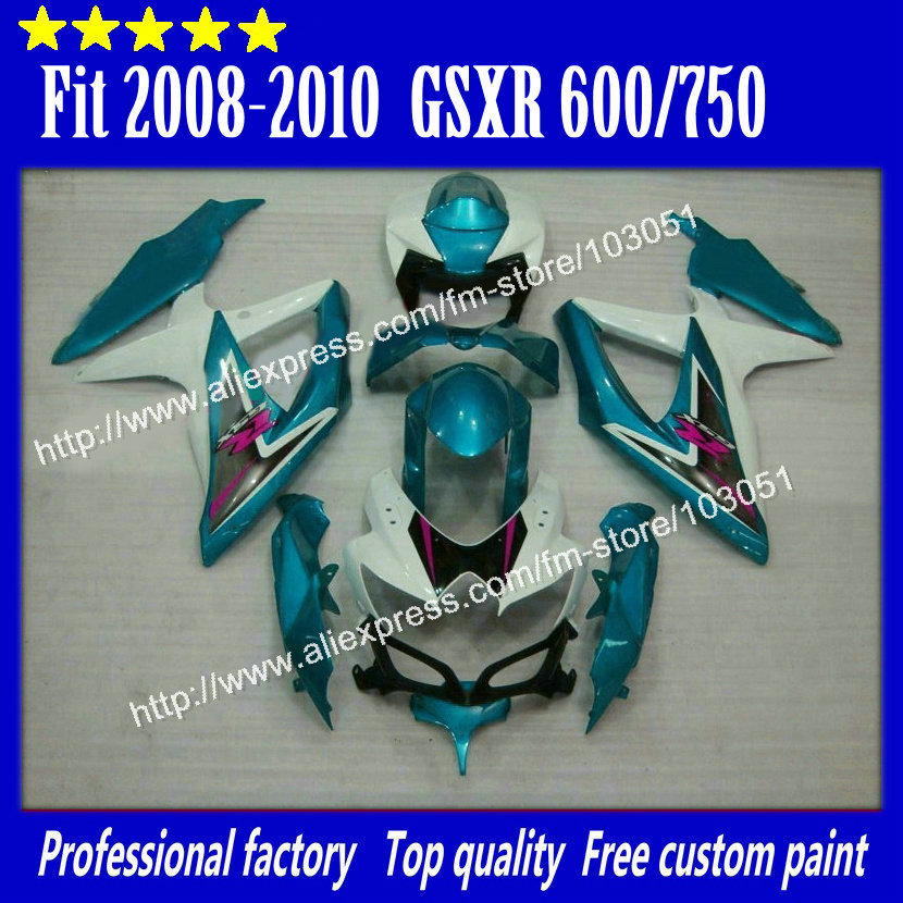 Bodywork for 2008 SUZUKI GSXR 600 fairings 2009 2010 GSXR 750 fairing K8 08 09 10 light blue su82