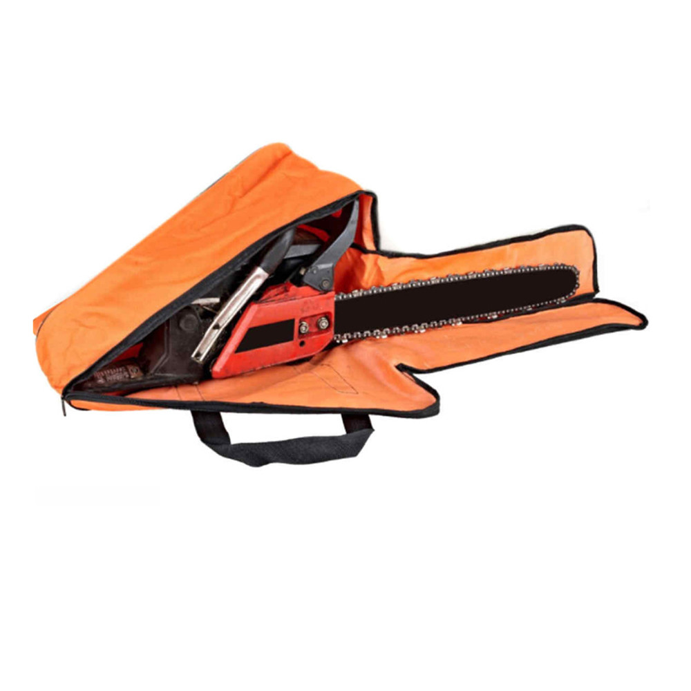 1pcs Universal Chainsaw Bag Chain Saw Accessories Handle Carry Storage bag For 12 14 16 Bar Length with Strap petrol chainsaw spare parts chain saw carry case storage bag for saws with 12 to 20 guide bar length 58cc 52cc 45cc