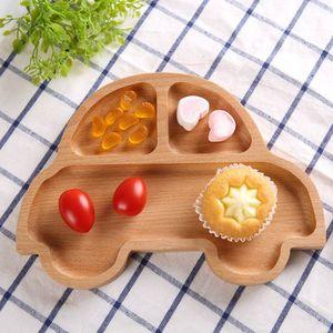 Детская деревянная тарелка для еды, поднос, натуральное блюдо, милый питомник, посуда ручной работы, натуральный инструмент для животных