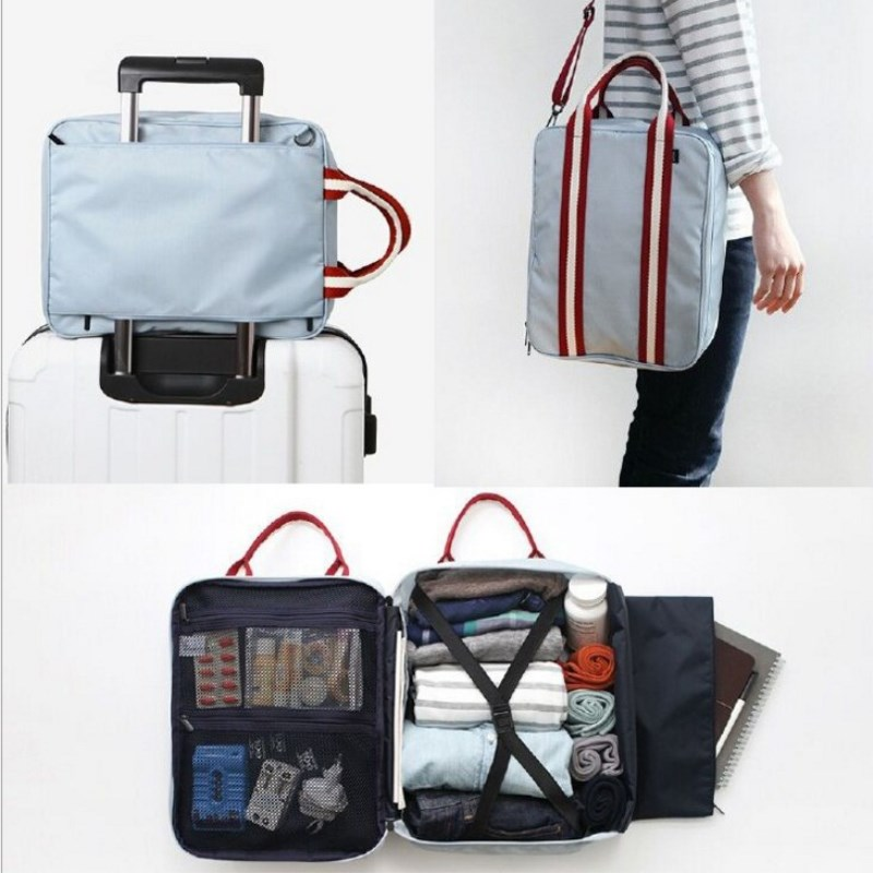 Men Small Travel Bags Foldable Suitcase Weekend Bag Female Packing Cubes Tote Luggage Storage Organizer Collation Pouch Bag