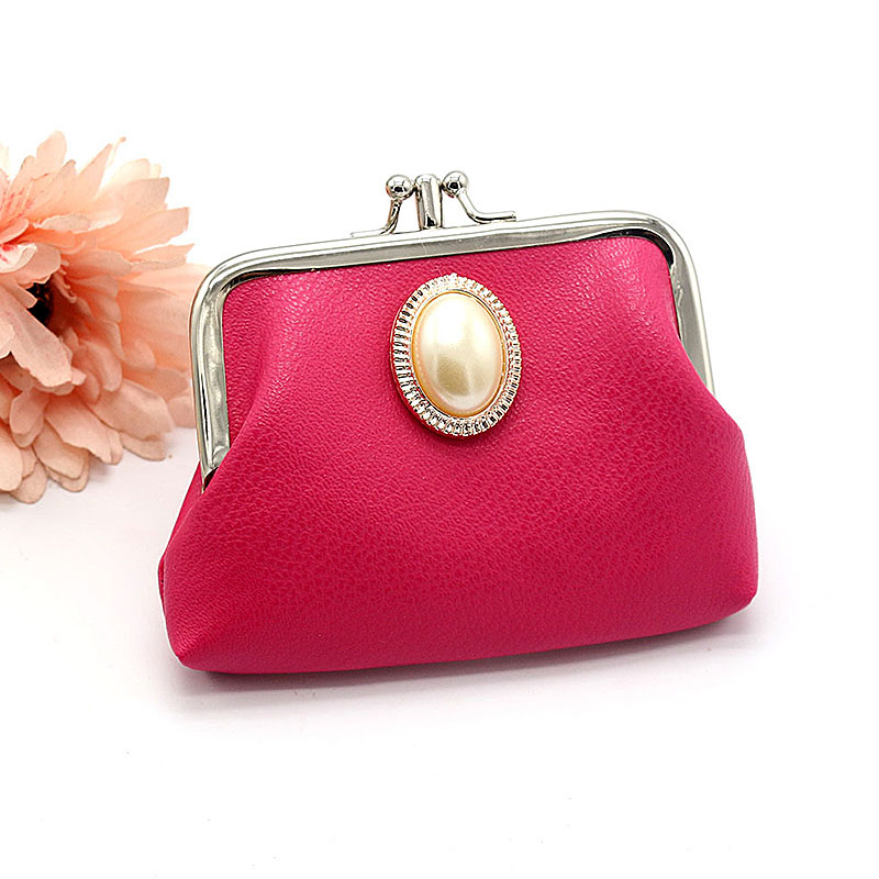 Yesello Polyester Double Coin Purses Hand Bag Wallet Key Bag for Kids Home