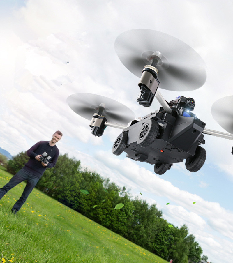 Amphibious 2 IN 1 WIFI FPV RC Drone/Tank  Air And Ground Mode Headless Mode High Lock Quadcopter With 720P Camera Vs Q353