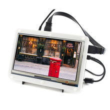 цена на 7inch HDMI LCD (C) (with bicolor case) 1024*600 Capacitive Touch Screen Support Raspberry Pi / Banana Pi