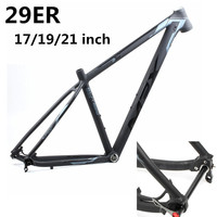 HIMALO bicycle frame Aluminum alloy lightweight Bike mtb Frame 29er 17 19 21 BSA Tapered Mountain Bike Frame thru axle