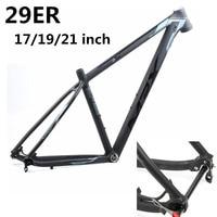 HIMALO bicycle frame Aluminum alloy lightweight Bike mtb Frame 29er 17 19 21 BSA Tapered Mountain Bike Frame thru axle