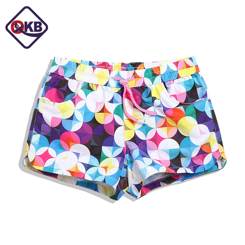 QIKERBONG 17 New Season Summer Lady Casual Shorts Women Shorts Women  Dot Print   Shorts Quick Drying Fabric Hot Sexy Short