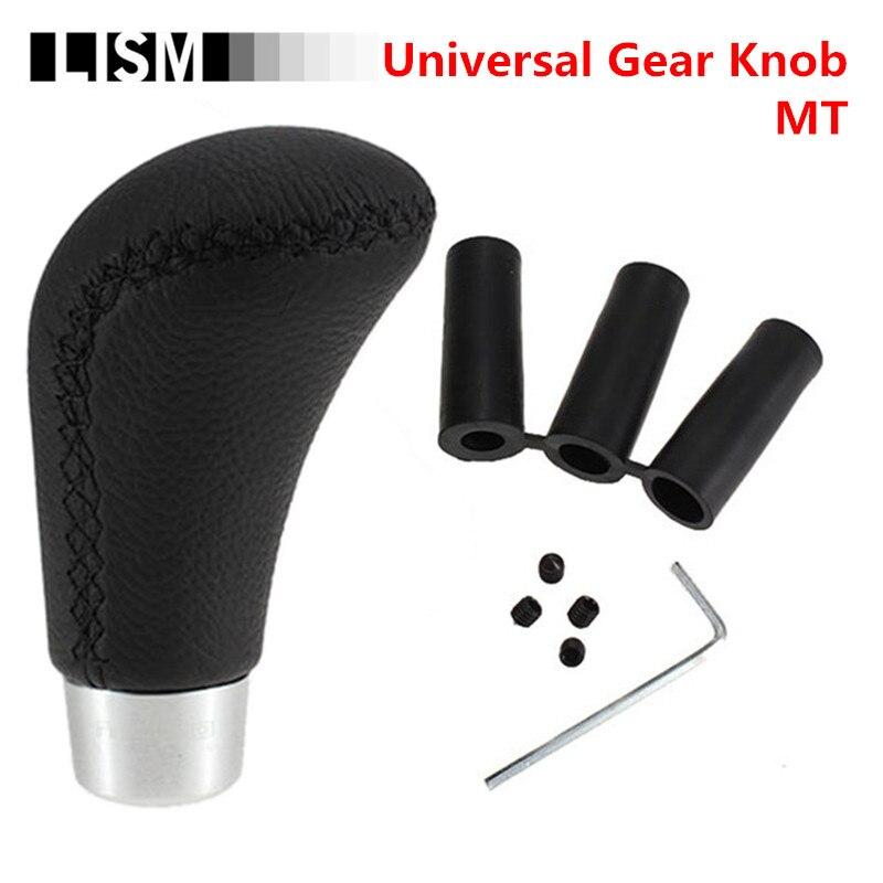 Universal PU Leder MT Schaltknauf MOMO Schalthebel Stick Headball Arm Stift Stift POMO für Volkswagen VW für KIA für Opel