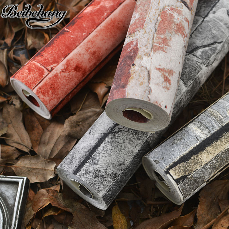 beibehang Chinese style 3D brick wallpaper antique culture brick hot pot restaurant corridor retro red thick PVC wall paper culture of professionalism paper