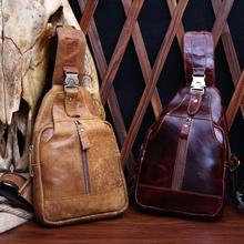 цены Guangzhou Leather Men's Bags Wholesale Fashion Casual Men's Korean Chest Bag Leather Messenger Bag Small Package