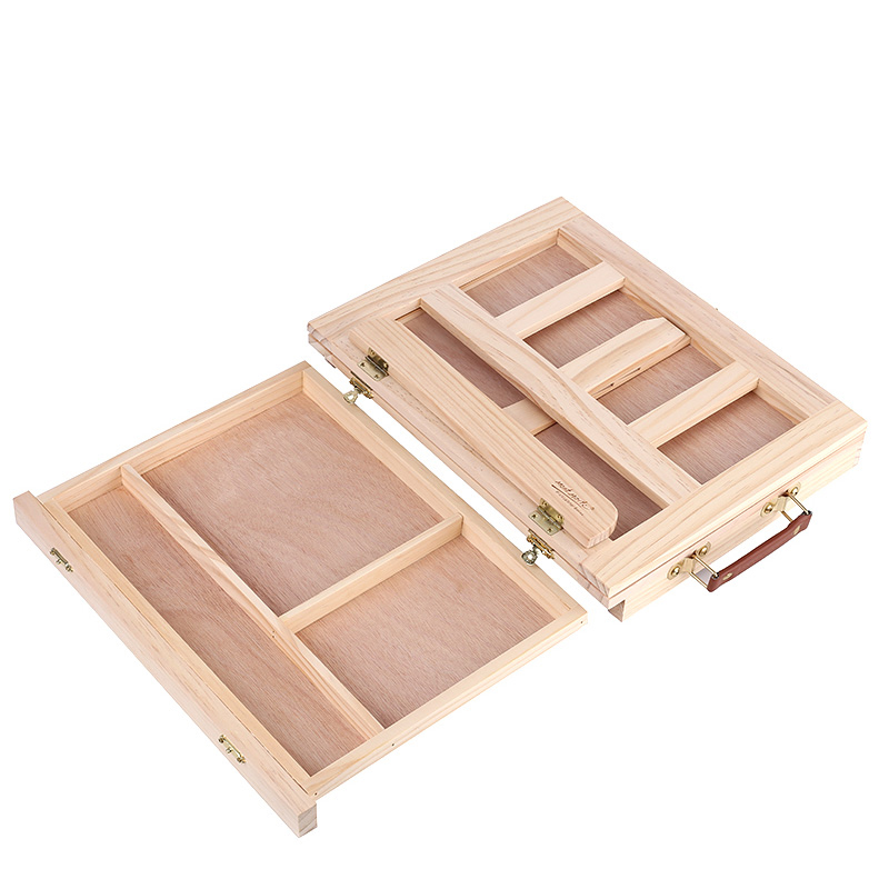 Multifunction Painting Easel Artist Desk Easel Portable Miniature Desk Light Weight Folding Easel For Storage Or During Trips 5