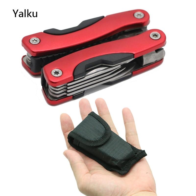 Yalku Plier Stainless Steel Multi tool Functional Plier Hand Tools Plier Screwdriver Tool Kit Combination Outdoor Multitool