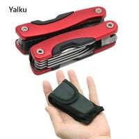 Yalku pince acier inoxydable multi-outil pince fonctionnelle outils à main pince tournevis trousse à outils combinaison extérieur multioutil
