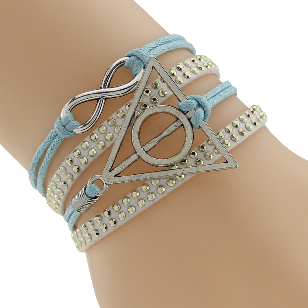 Craft WeaveBraid and Layered New Style Bracelets Triangle Round Silver Infinity Love Braided Layered DIY Bracelet