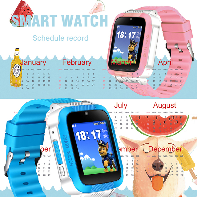 BANGWEI Waterproof Children Smart Watch LED Color Screen Music Player Bluetooth Connection Support 2G SIM Card Call Digitalwatch