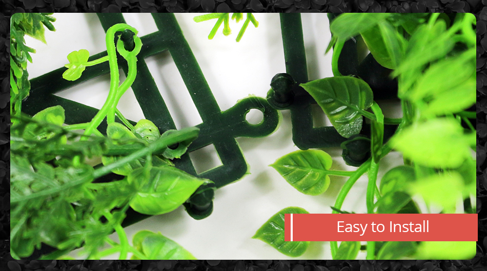 Faux Artificial Ivy Leaf Green Privacy Balcony Fence Screen Decoration 1MX1M Panels Hedges Yard Garden Wedding Decorations4